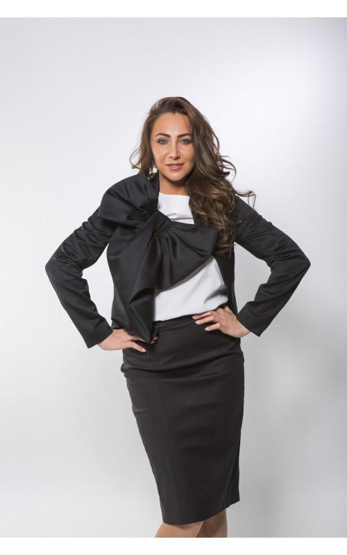 Пиджак дизайнерский с бантом