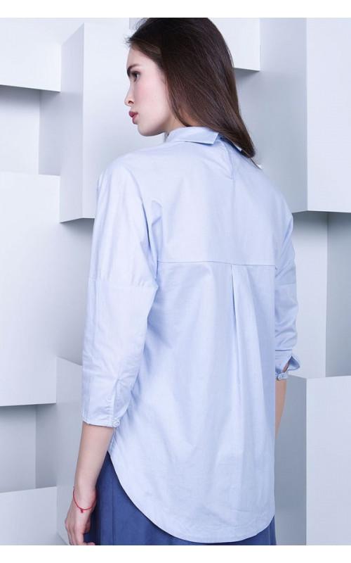 Нежная лавандовая блуза