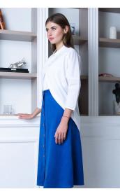 Замшевая юбка цвета индиго
