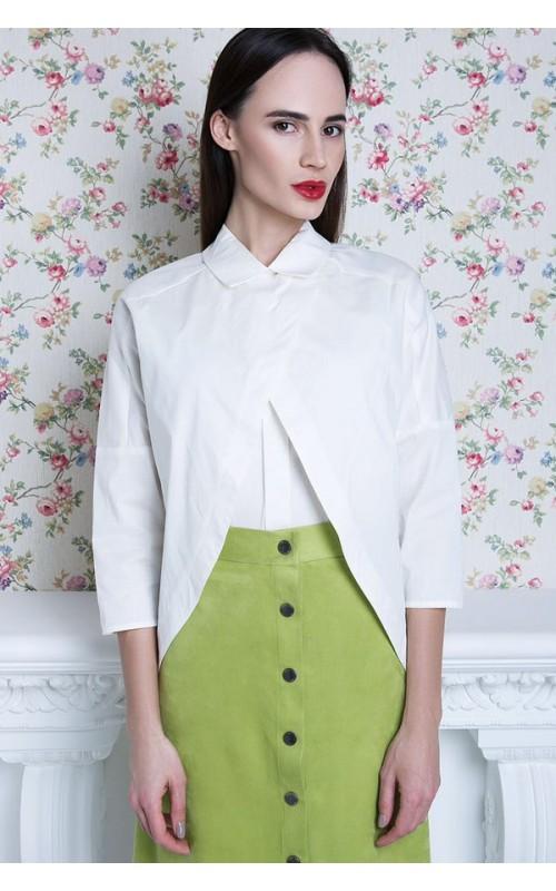 Стильная оливковая юбка из замши