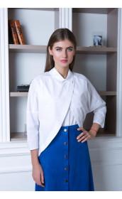 Белоснежная двухслойная блузка