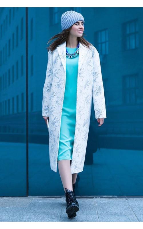 Роскошное белое пальто