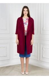 Пальто цвета французского вина