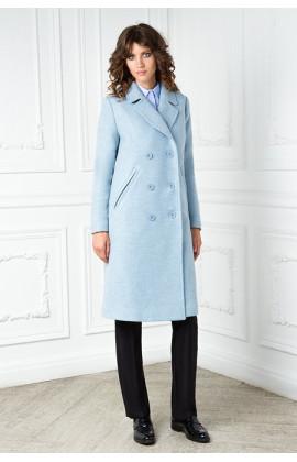 Пальто-тренч цвета небесной лазури