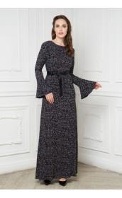 Платье длинное с рукавом - расклешенный манжет
