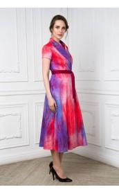 Платье на запахе фиолетовое с переходами