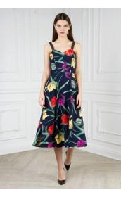 Платье сарафан трапеция с тесьмой