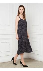 Платье-сарафан черный в крапинку