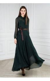 Платье-рубашка длинное с двухъярусной юбкой