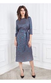 Платье прямое с люрексом