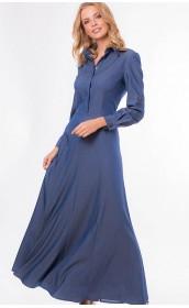 Платье макси синие