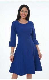 Платье синие с рукавами три четверти
