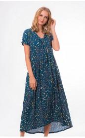 Платье макси бирюзового цвета