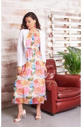 Платье длинное шёлковое