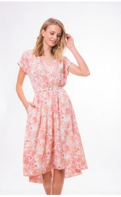 Платье с розовыми цветами