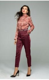 Шелковистые атласные брюки, зауженные к низу