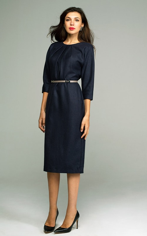 Платье футляр из тончайшей нежной шерстяной ткани