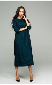 """Платье из итальянской шерсти с принтом - """"звезды"""""""