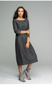 Платье прямого силуета из итальянской тончайшей шерсти