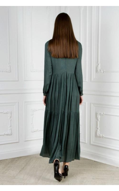 Платье длинное с отрезной юбкой