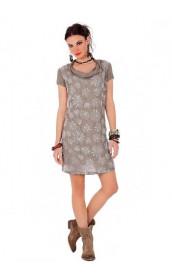Короткое платье с паетками