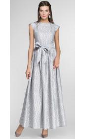 Длинное фактурное платье pallari