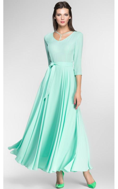Длинное платье с оригинальным вырезом pallari