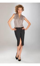 Комбинированное эффектное платье pallari