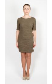 Платье фактурное оливковое