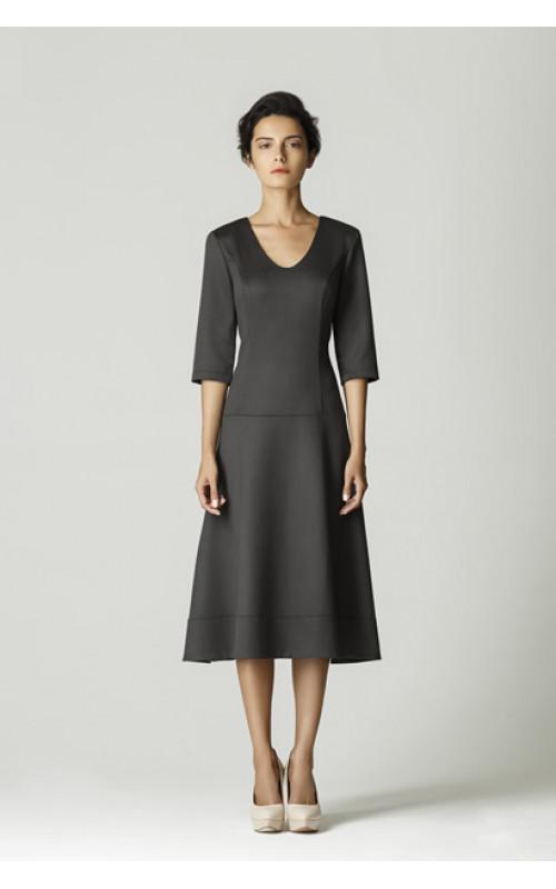 Платье с заниженной талией и юбкой полусолнцеклеш pallari