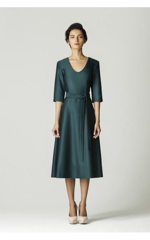 Платье с заниженной таллией и юбкой полусолнцеклеш pallari