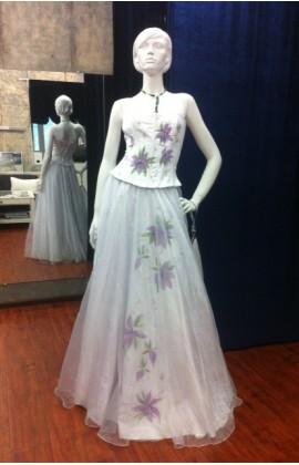 Свадебное платье с корсетом и юбкой