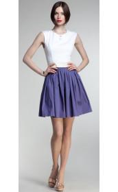 Короткое платье с пышной синей юбкой pallari
