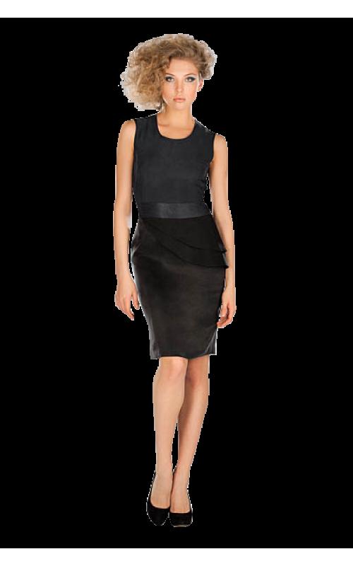 Комбинированное приталенное платье